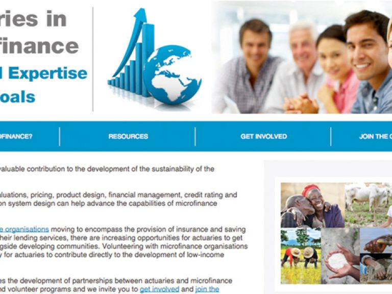 Thumbnail for Actuarial Expertise, Social Goals – The Launch of the Institute Microfinance Website