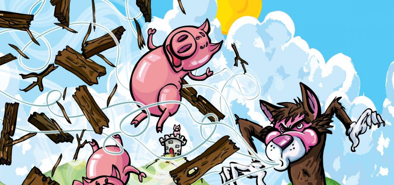 Three Little Pigs lesson in Disaster Resilience