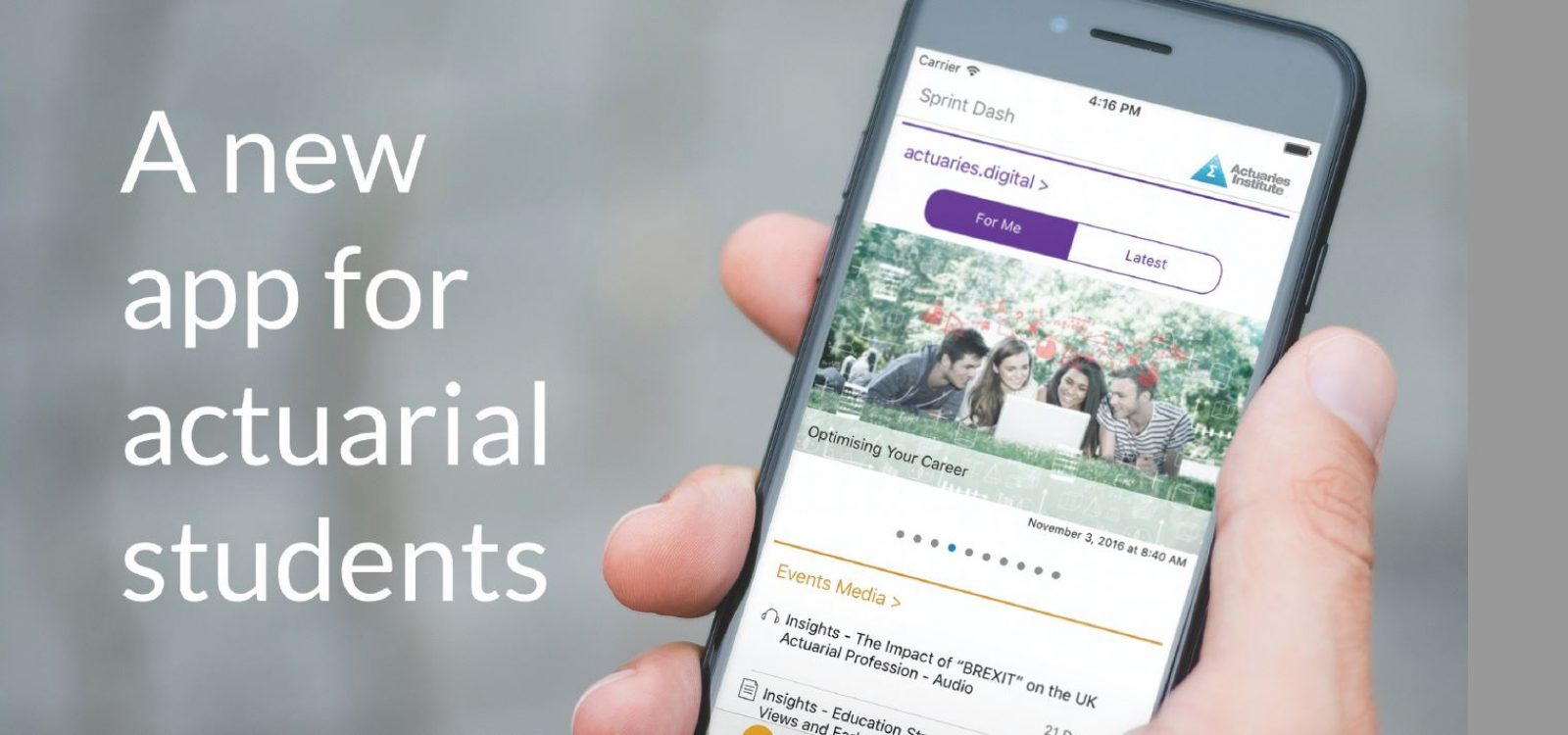 Actuarial Students Sprint Ahead with new Student App