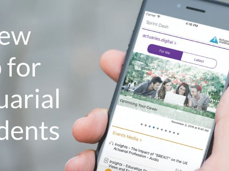 Thumbnail for Actuarial Students Sprint Ahead with new Student App