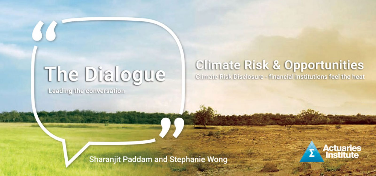 Climate Risk Disclosure – The Dialogue Podcast