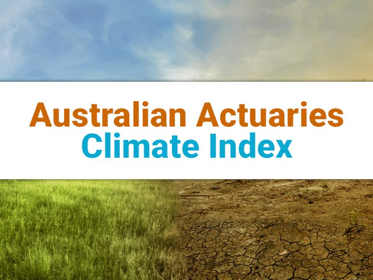 Thumbnail for Australian Actuaries Climate Index Update