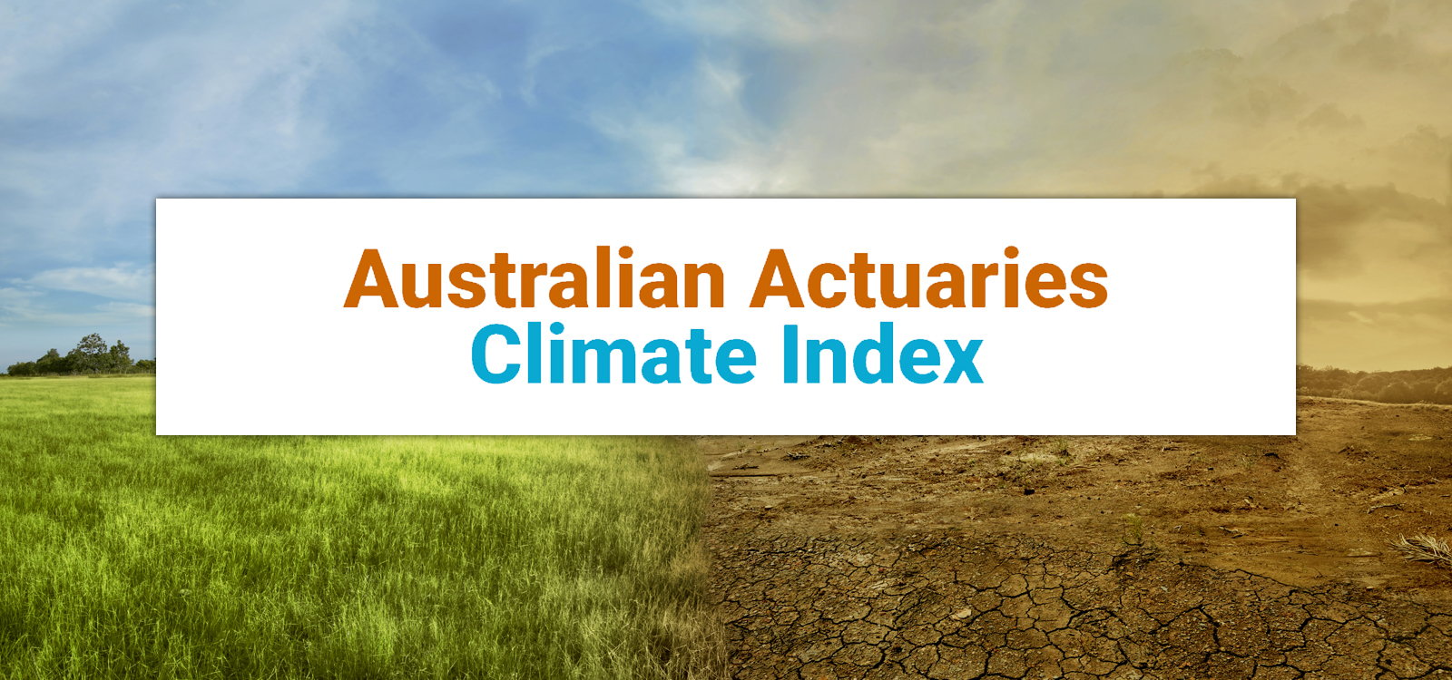 Australian Actuaries Climate Index Update